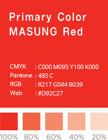 PRIMARY COLOR MASUNG Red